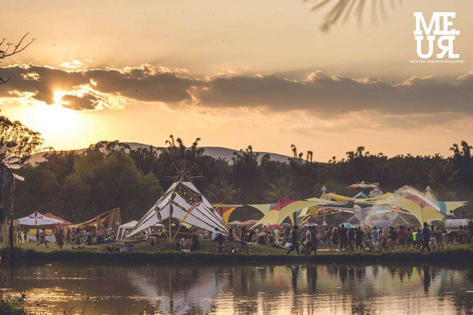 Sunset at Festival Ometeotl in Mexico