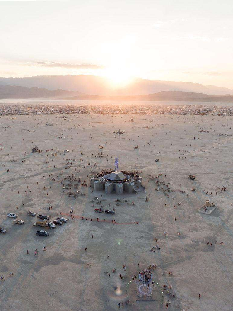 Burning Man from above by drone photographer Alex Medina