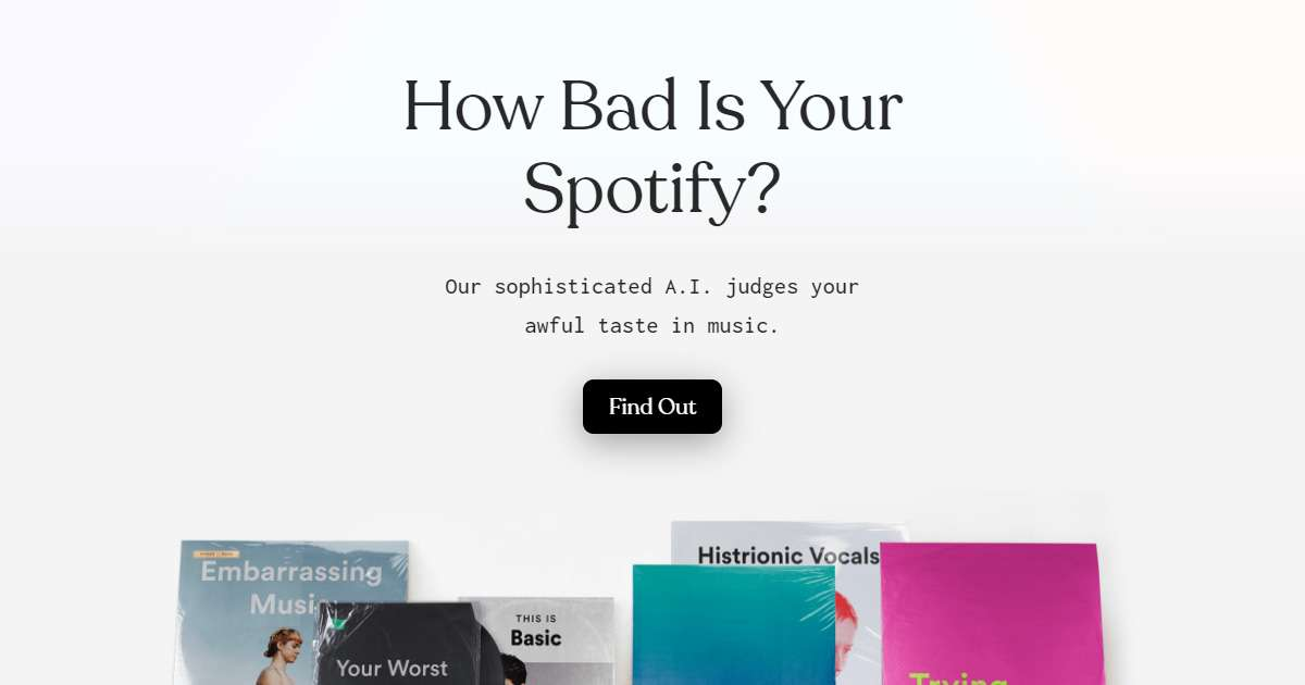 This Spotify tool rates your music taste