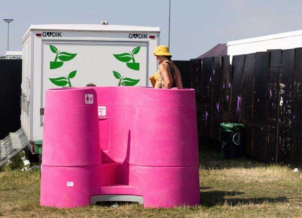 Urinal for females aims to reduce toilet queues at festivals
