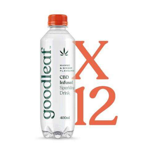 Goodleaf CBD Infused Sparkling Water – Mango Ginger (12 x 400ml)
