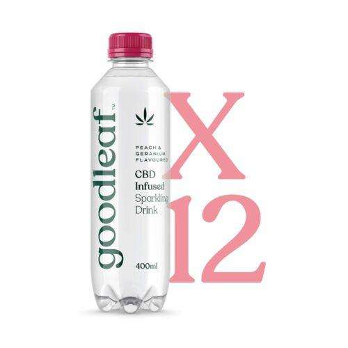 Goodleaf CBD Infused Sparkling Water – Peach Geranium (12 x 400ml)