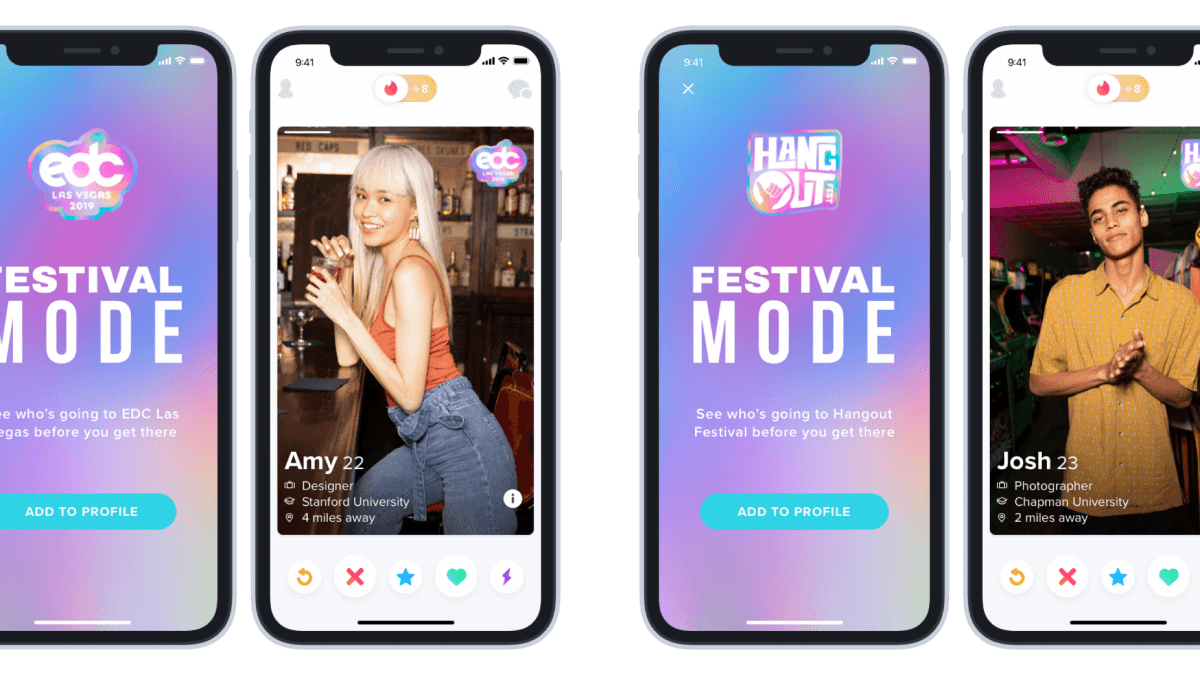 "Tinder now has ""Festival Mode"" for festival matchmaking"