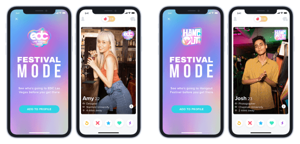 """Tinder now has """"Festival Mode"""" for festival matchmaking"""